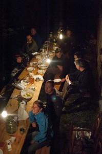 La tavolata a metà serata
