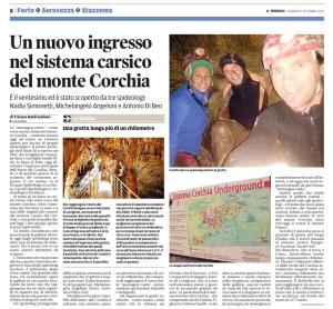 La pagina del Tirreno con la notizia del nuovo ingresso.